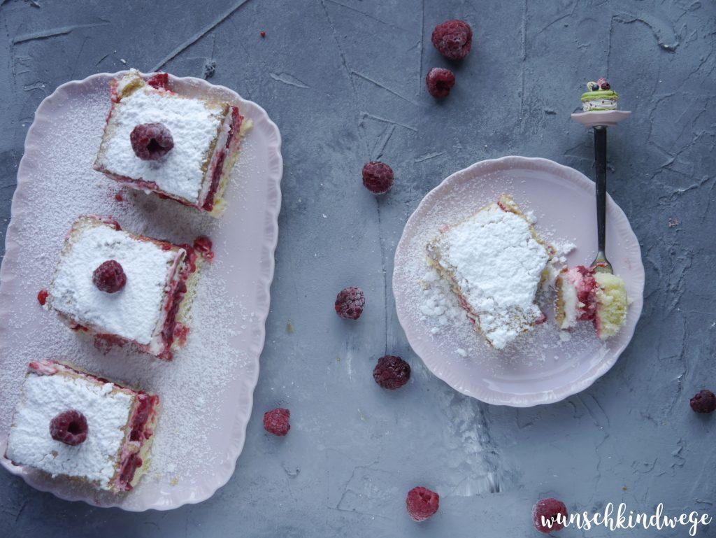 Himbeer-Keks Kuchen vom Blech