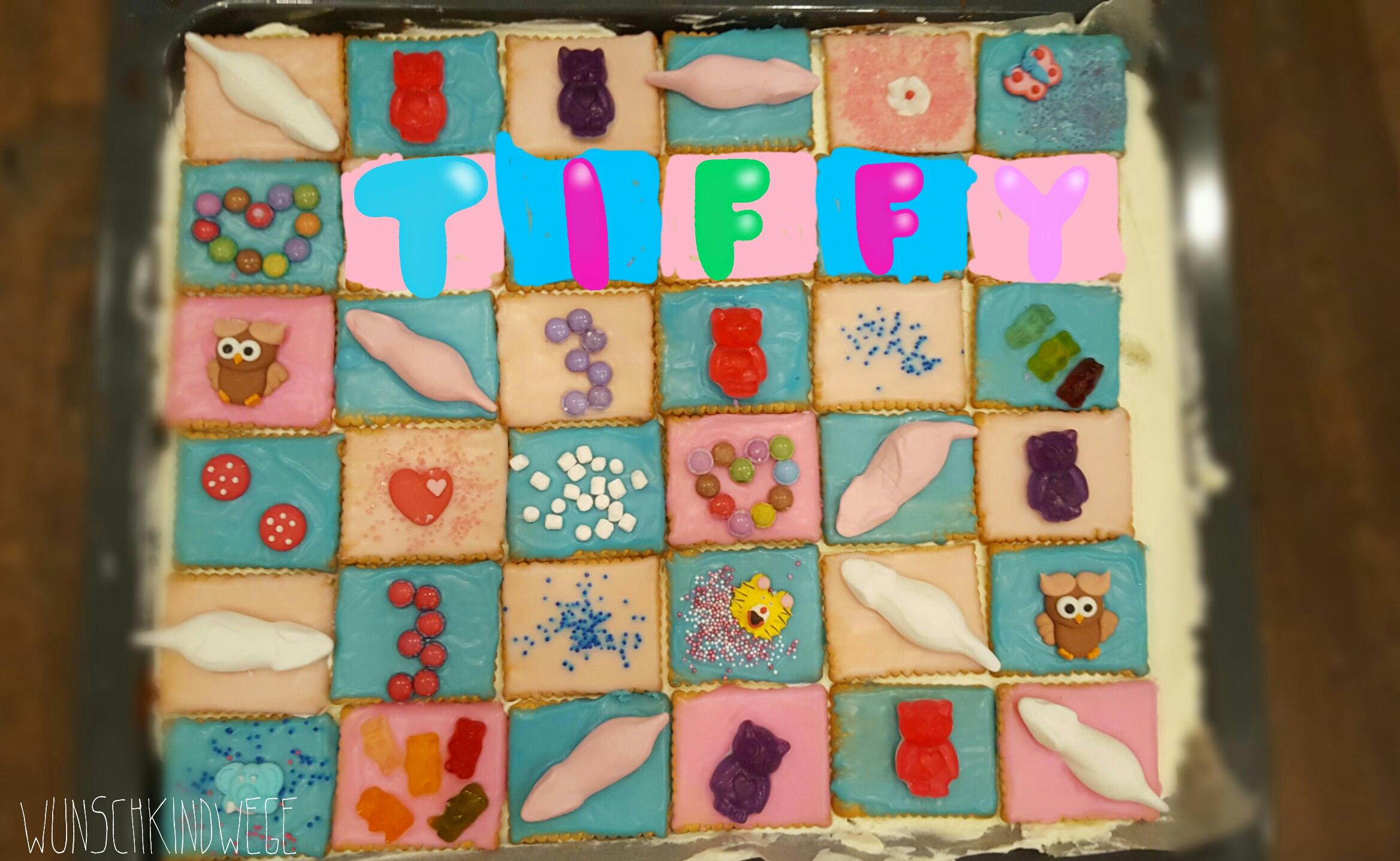 Butterkekskuchen Bunter Kuchen Zum Kindergeburtstag