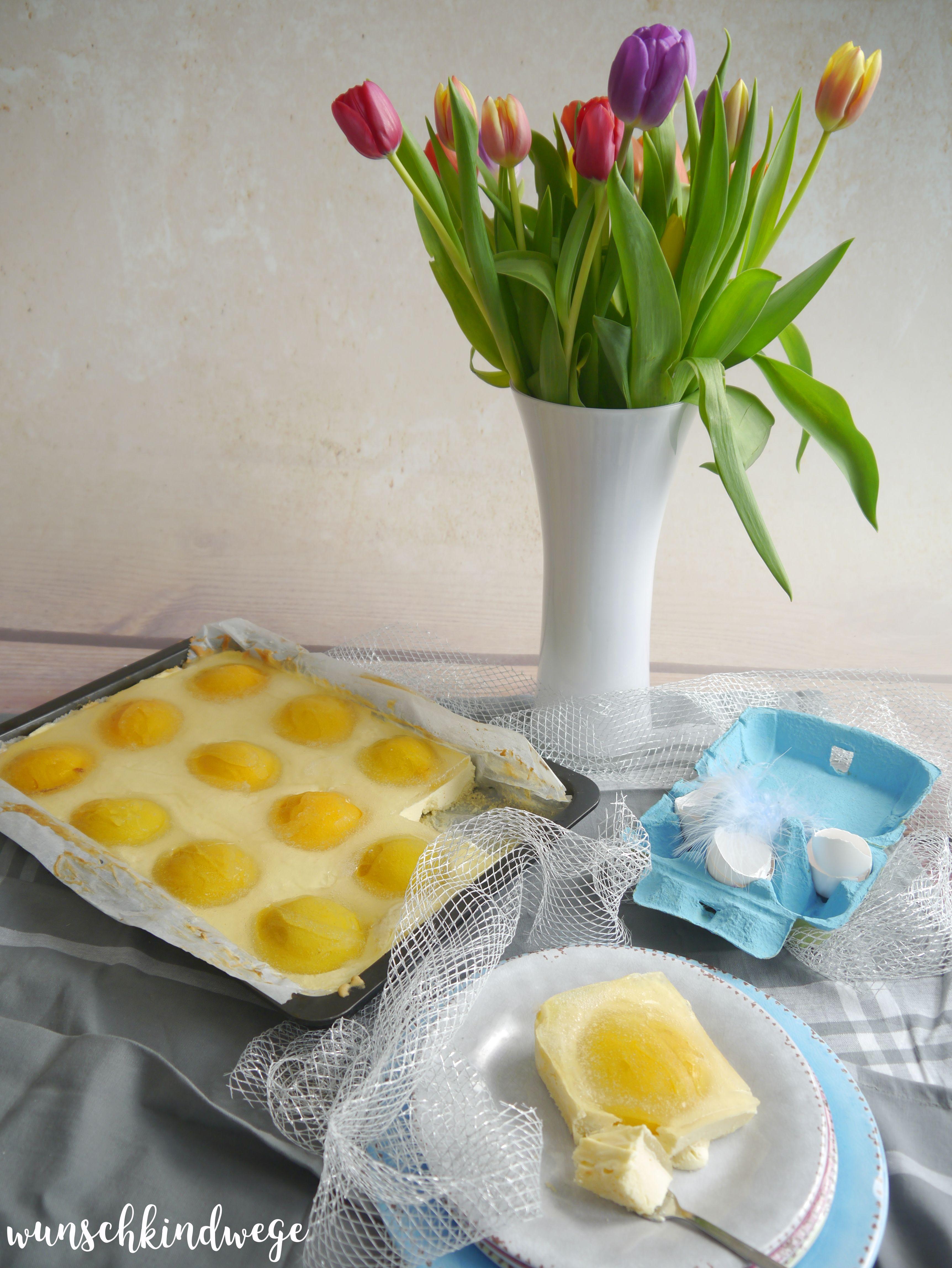 Spiegel-Ei Kuchen Anschnitt