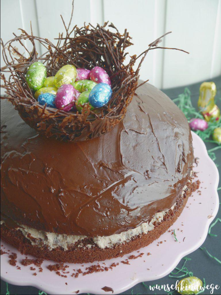 Kinder-Pingui Torte Osternest