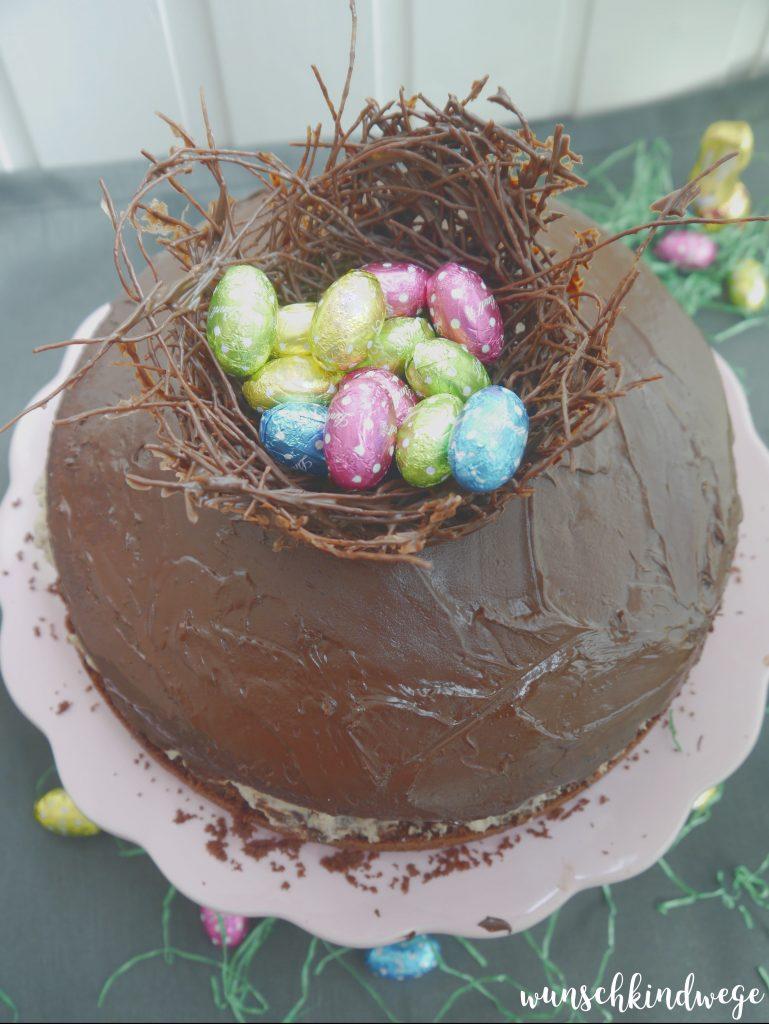 Kinder-Pingui Torte Ostereier