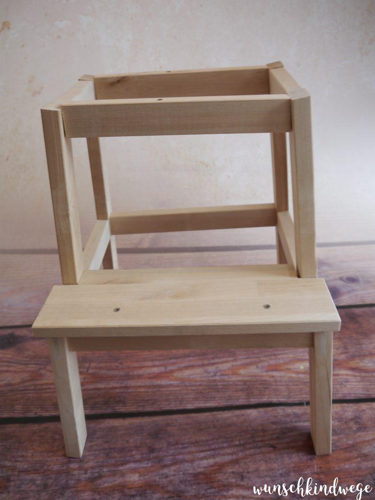 Hocker BEKVÄM aufgebaut ohne Sitzfläche für Learning Tower
