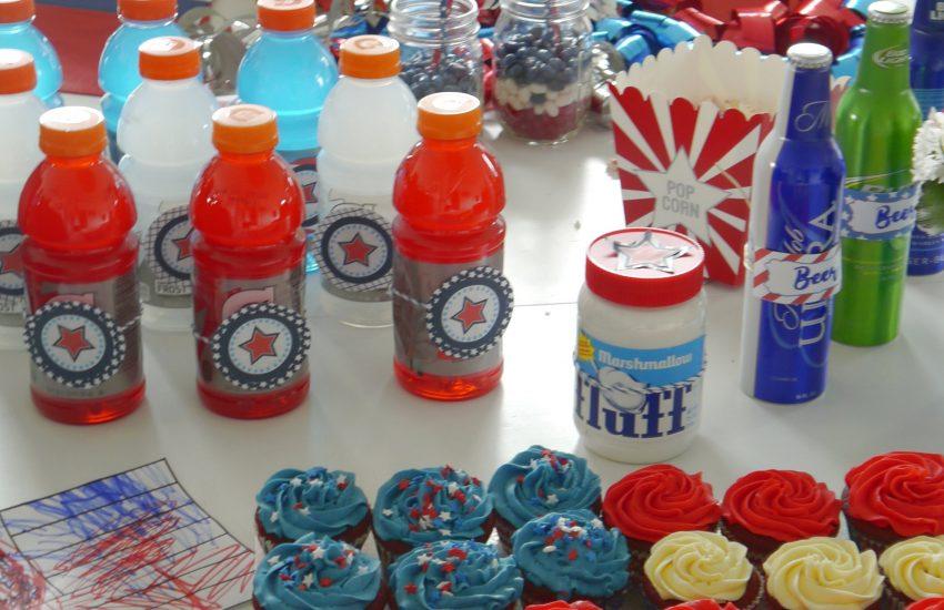 USA Mottoparty Geburtstagstisch