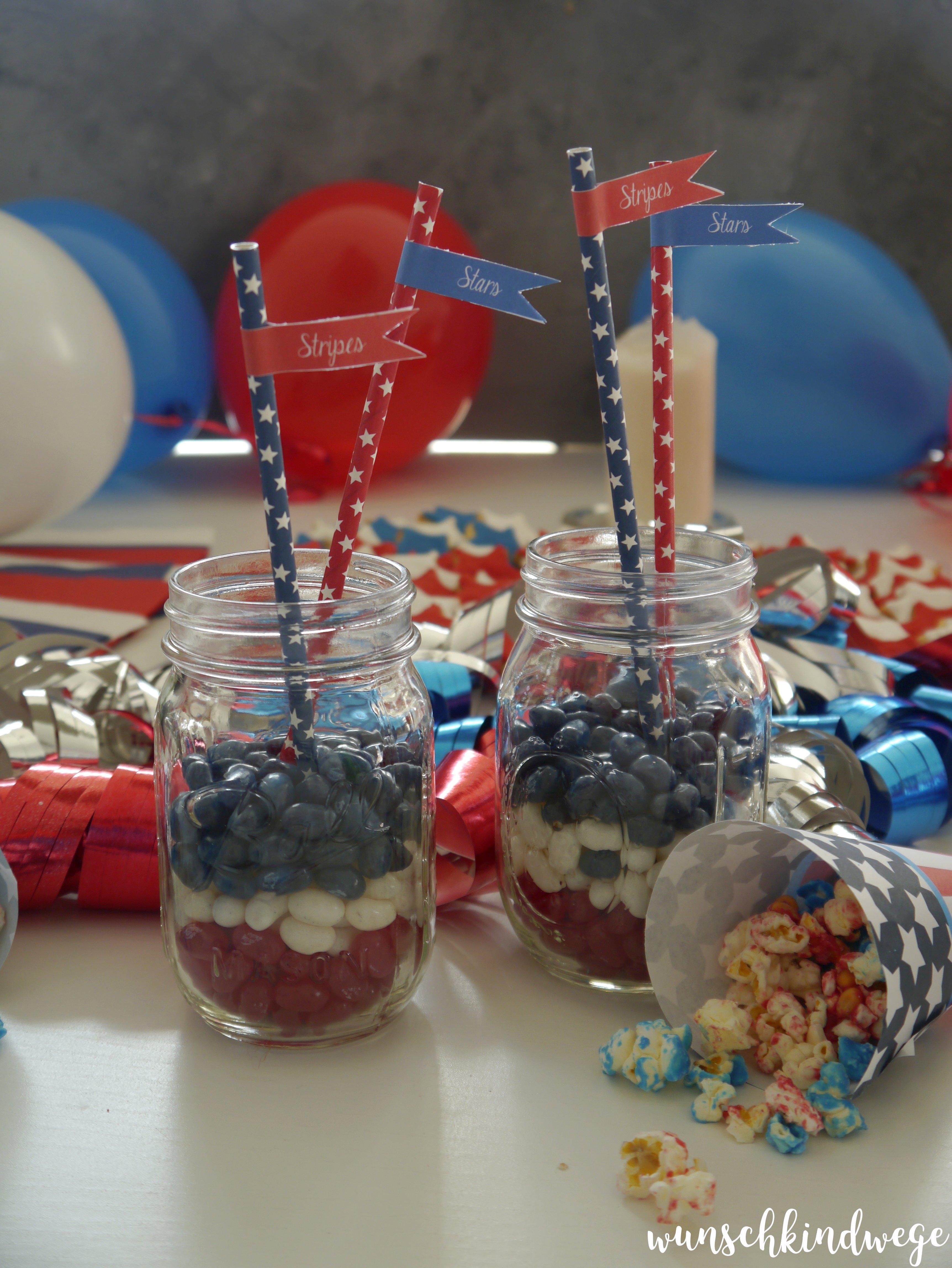 Jelly Beans Geburtstagstisch USA Mottoparty