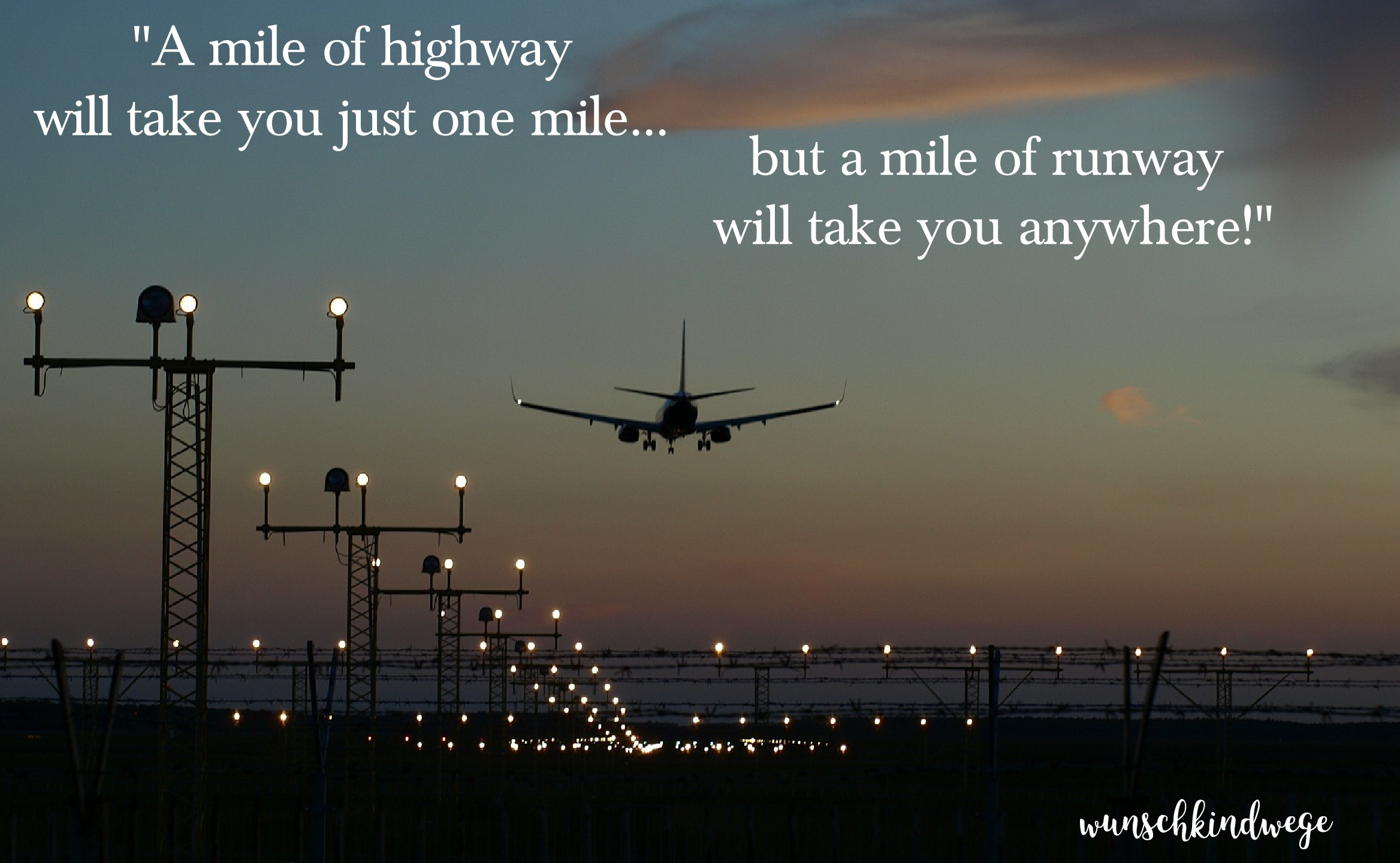 Florida mit Kindern: A mile of highway will take you just one mile, but a mile of runway will take you anywhere