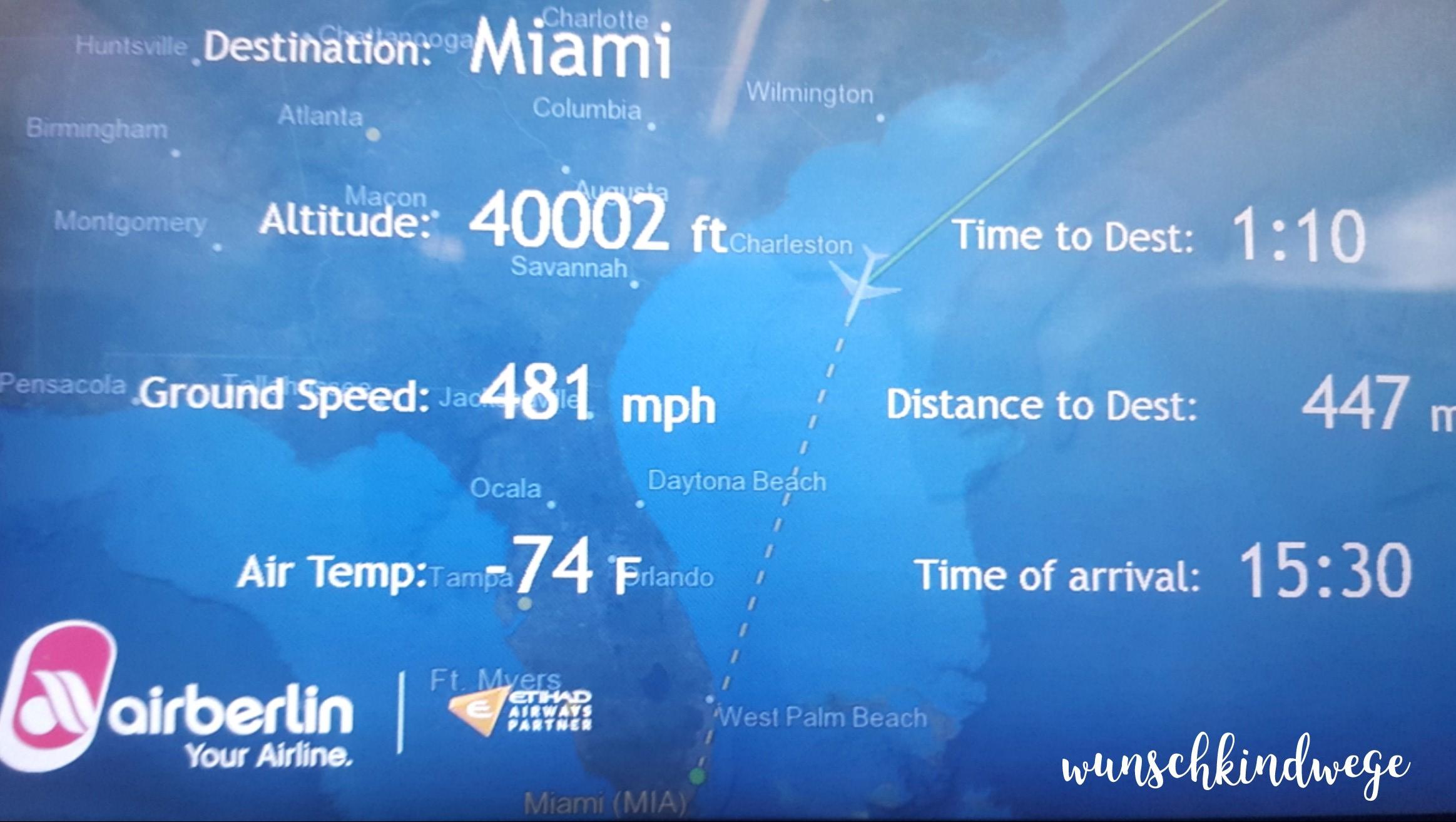 Florida mit Kindern: Karte Flugzeug
