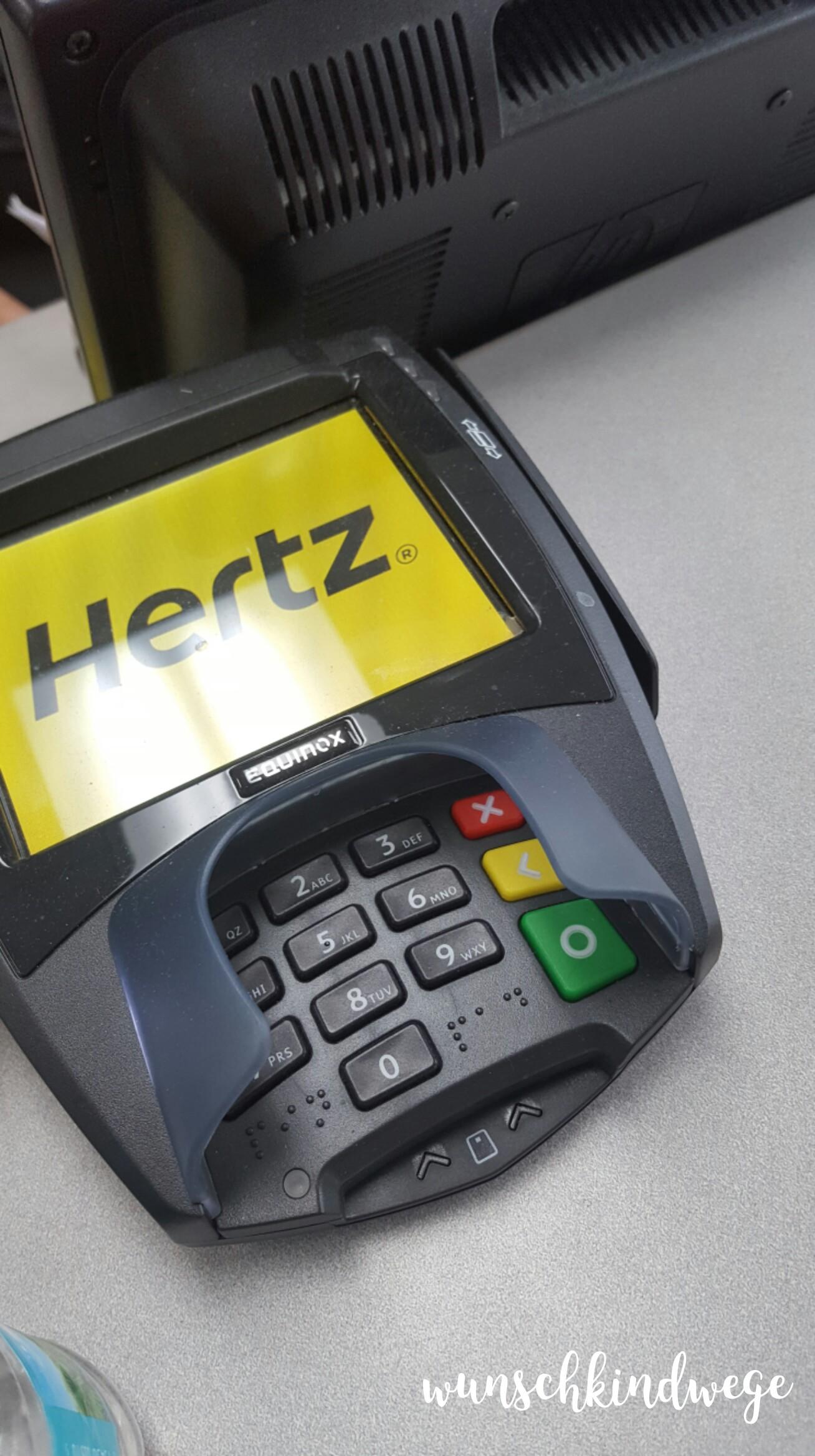 Juni 2017: Hertz Autovermietung