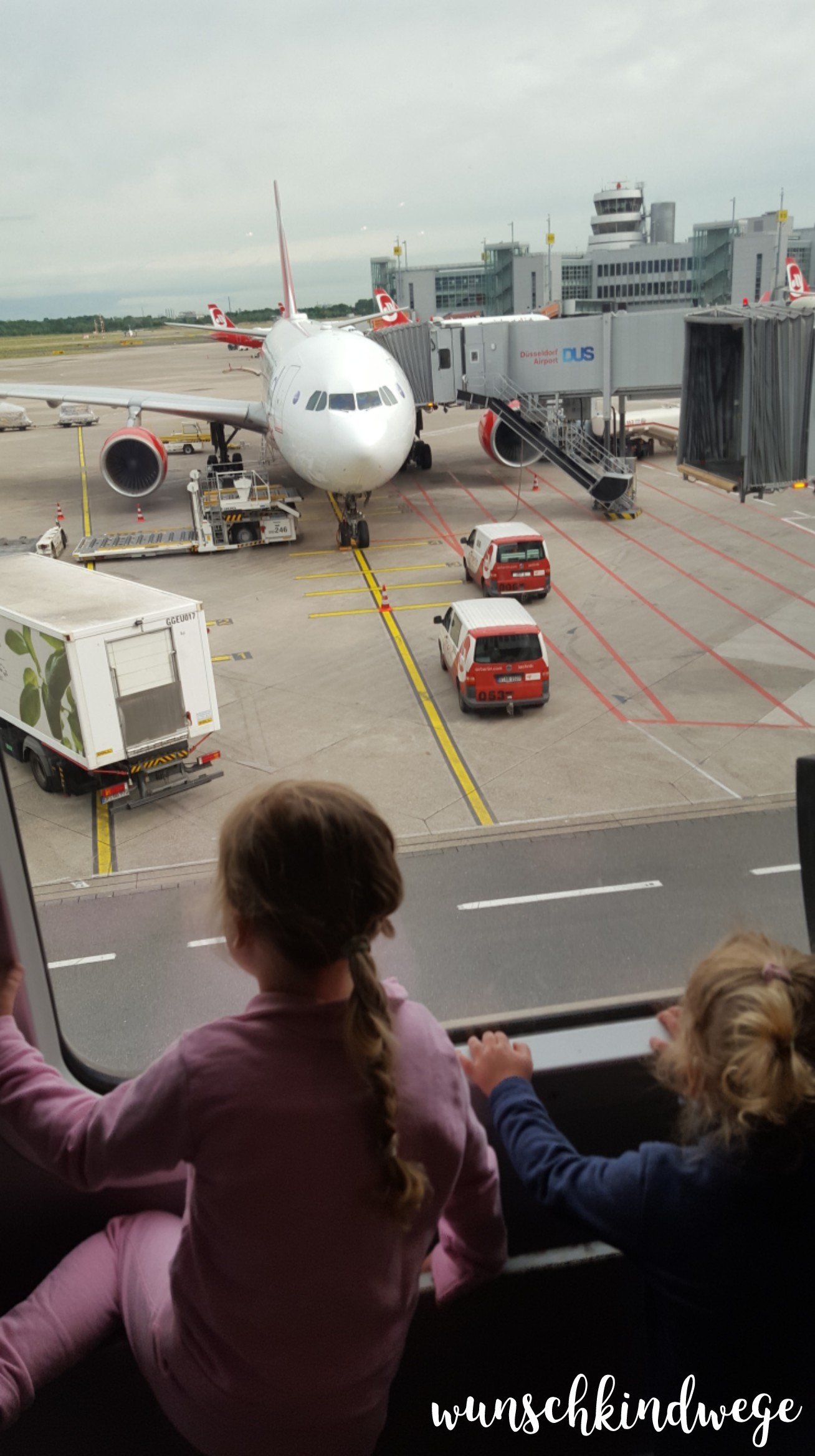 Florida mit Kindern: Air Berlin A330 Düsseldorf