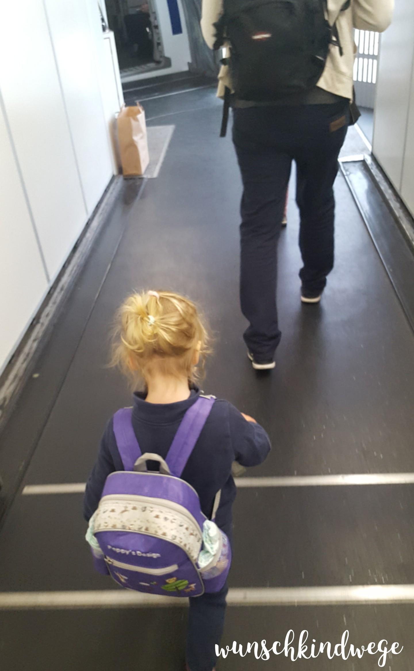 Florida mit Kindern: Boarding Fluggaststeig