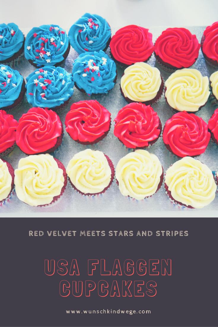 Usa Flaggen Cupcakes