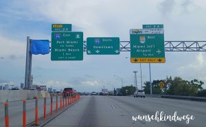 Florida mit Kindern Reisetagebuch Strassenschild Miami