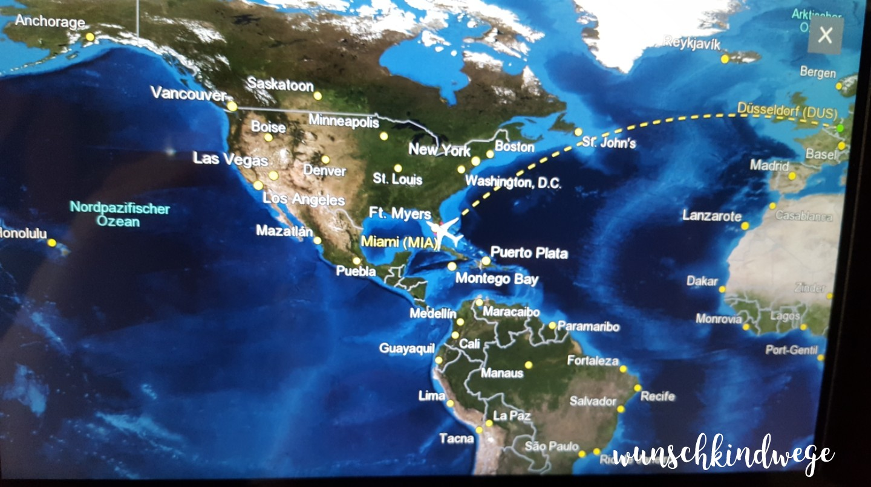 Airshow Flugzeug Miami - Düsseldorf Florida Rückflug
