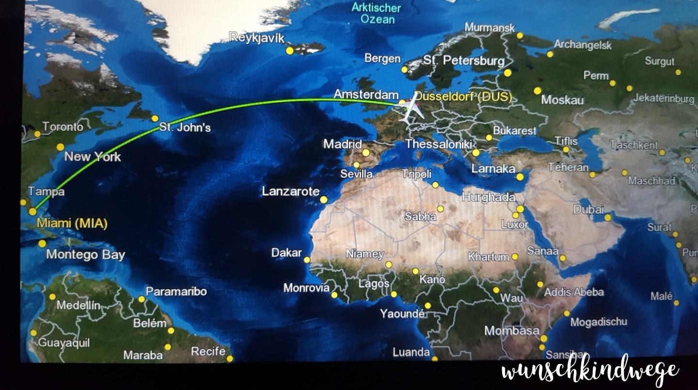 Airshow Flugzeug MIA-DUS Florida Rückflug