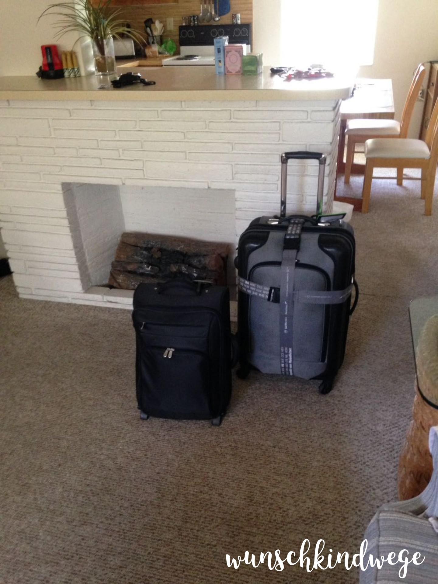 gepackte Koffer Florida