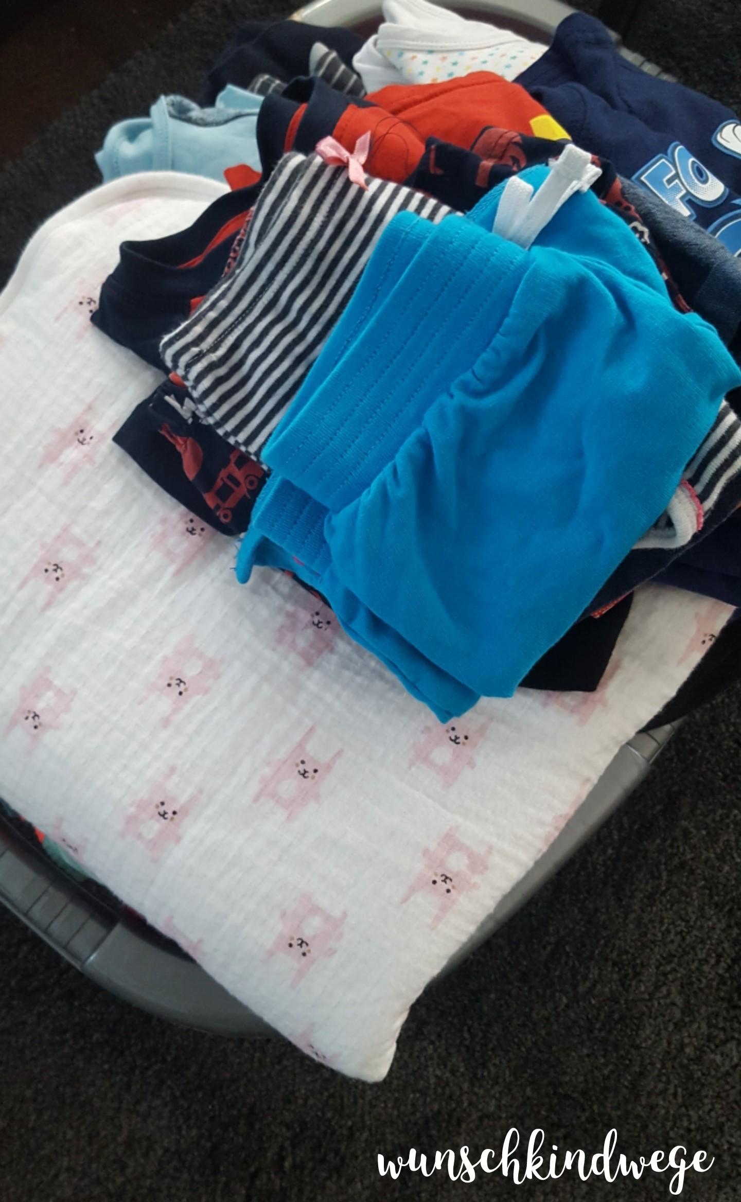 zusammengelegte Wäsche