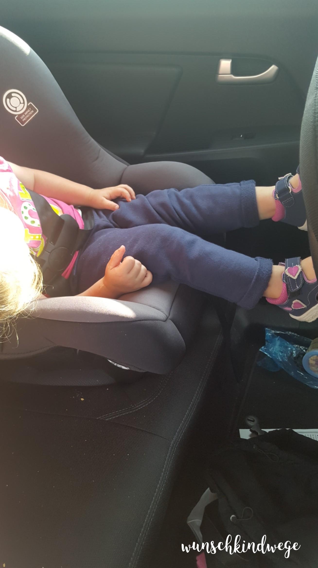 Florida mit Kindern: Im Auto eingeschlafen