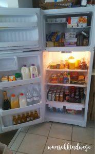 Florida mit Kindern Reisetagebuch gefüllter Kühlschrank