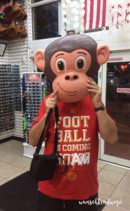 Florida mit Kindern Reisetagebuch Affenmaske