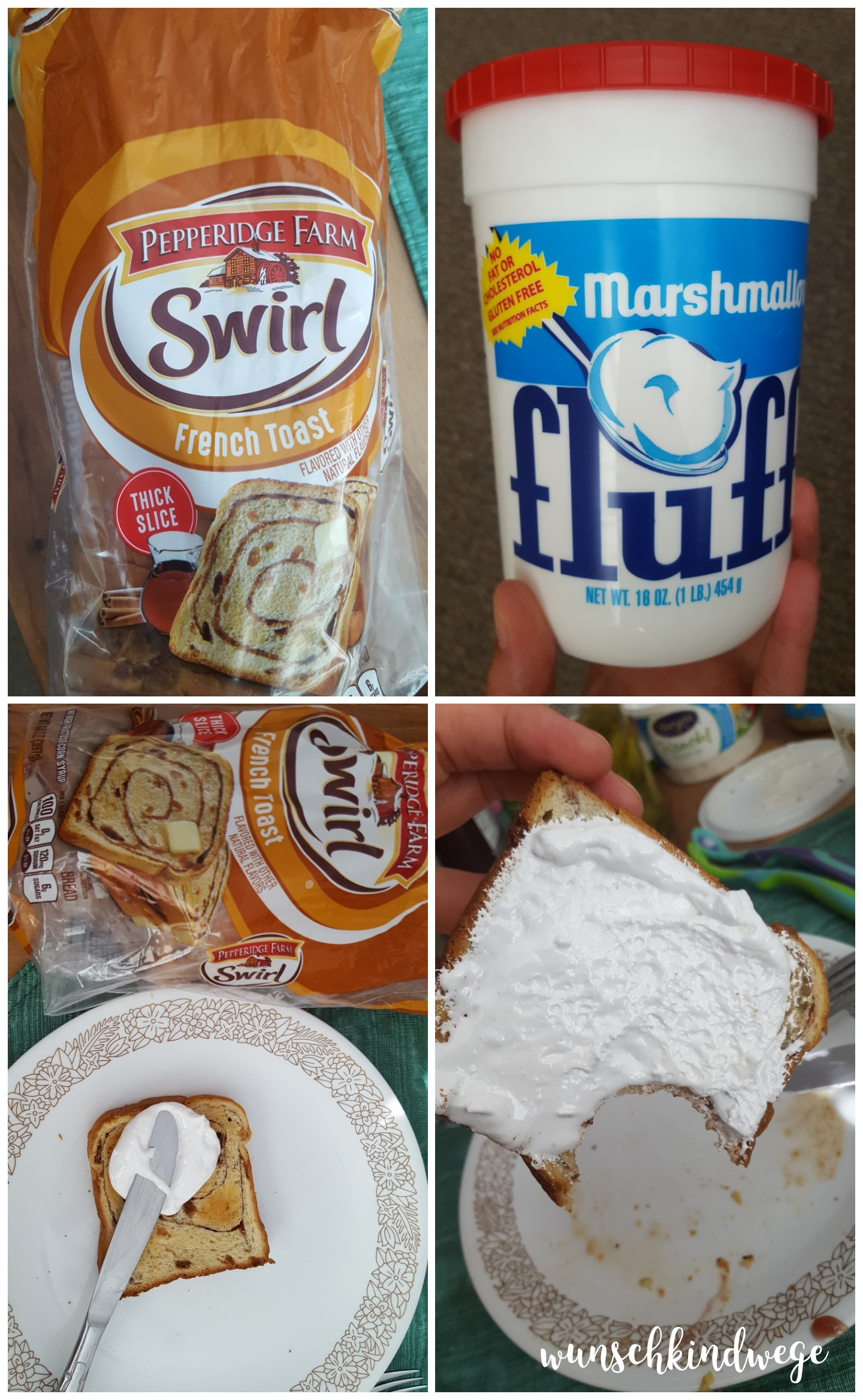 Florida Marshmallow Fluff und Swirl Toast