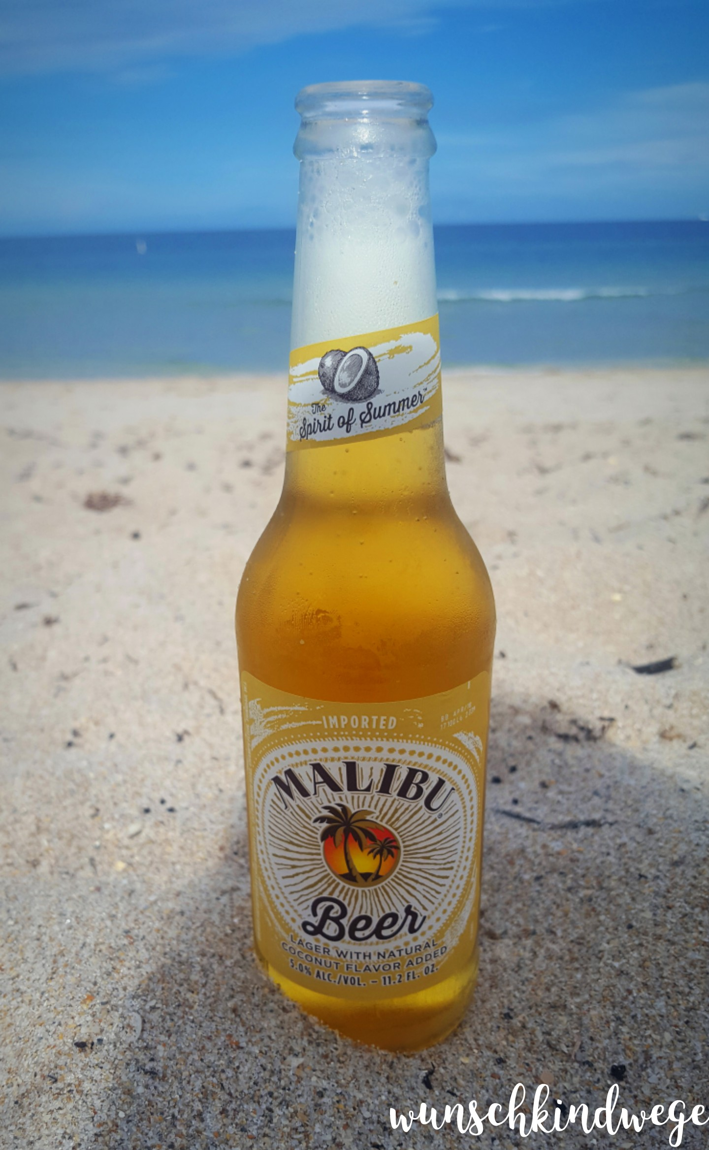 Coconut Malibu Beer in Lauderdale-by-the-Sea