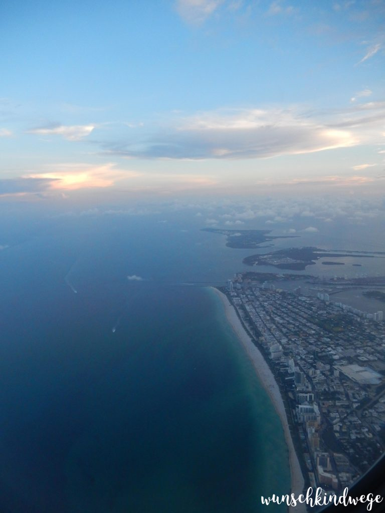 Miami aus dem Flugzeug - Bye, Bye Lauderdale-by-the-Sea