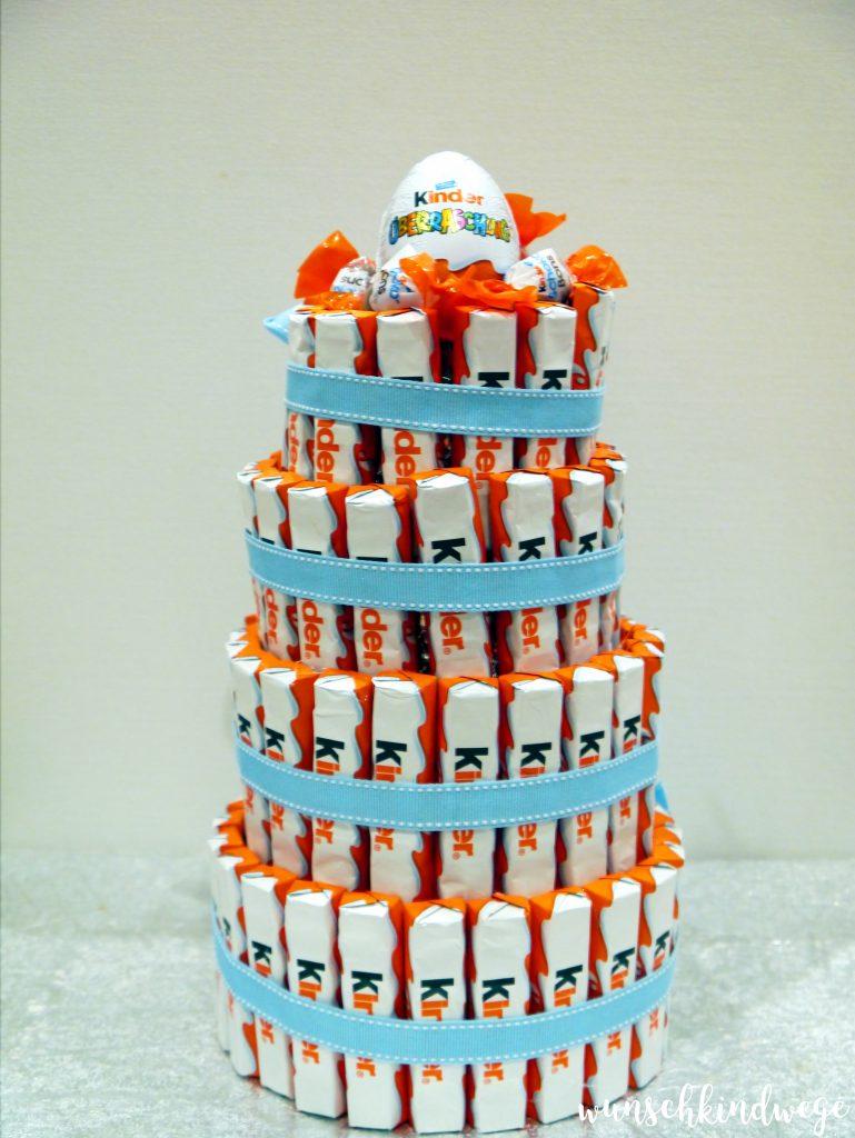 Kinderschokoladen-Torte basteln DIY