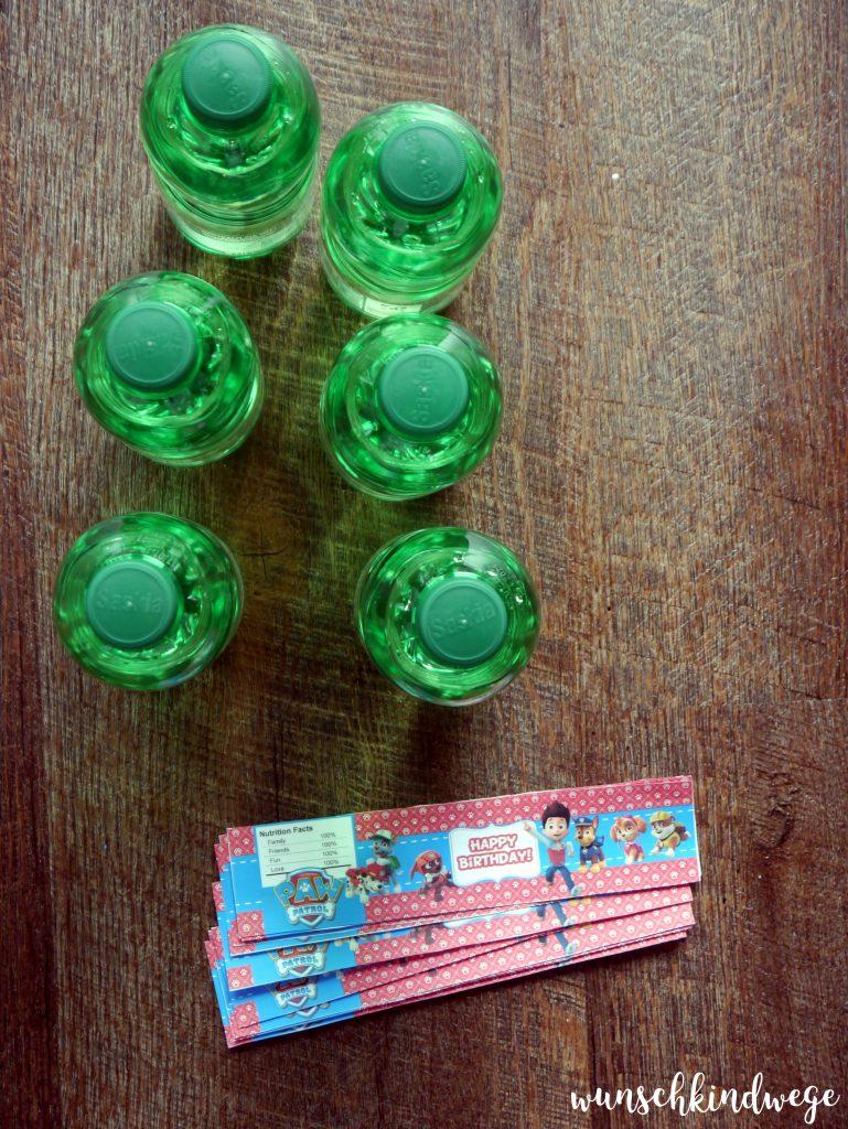 Paw Patrol Geburtstag - Getränkeflaschen Label