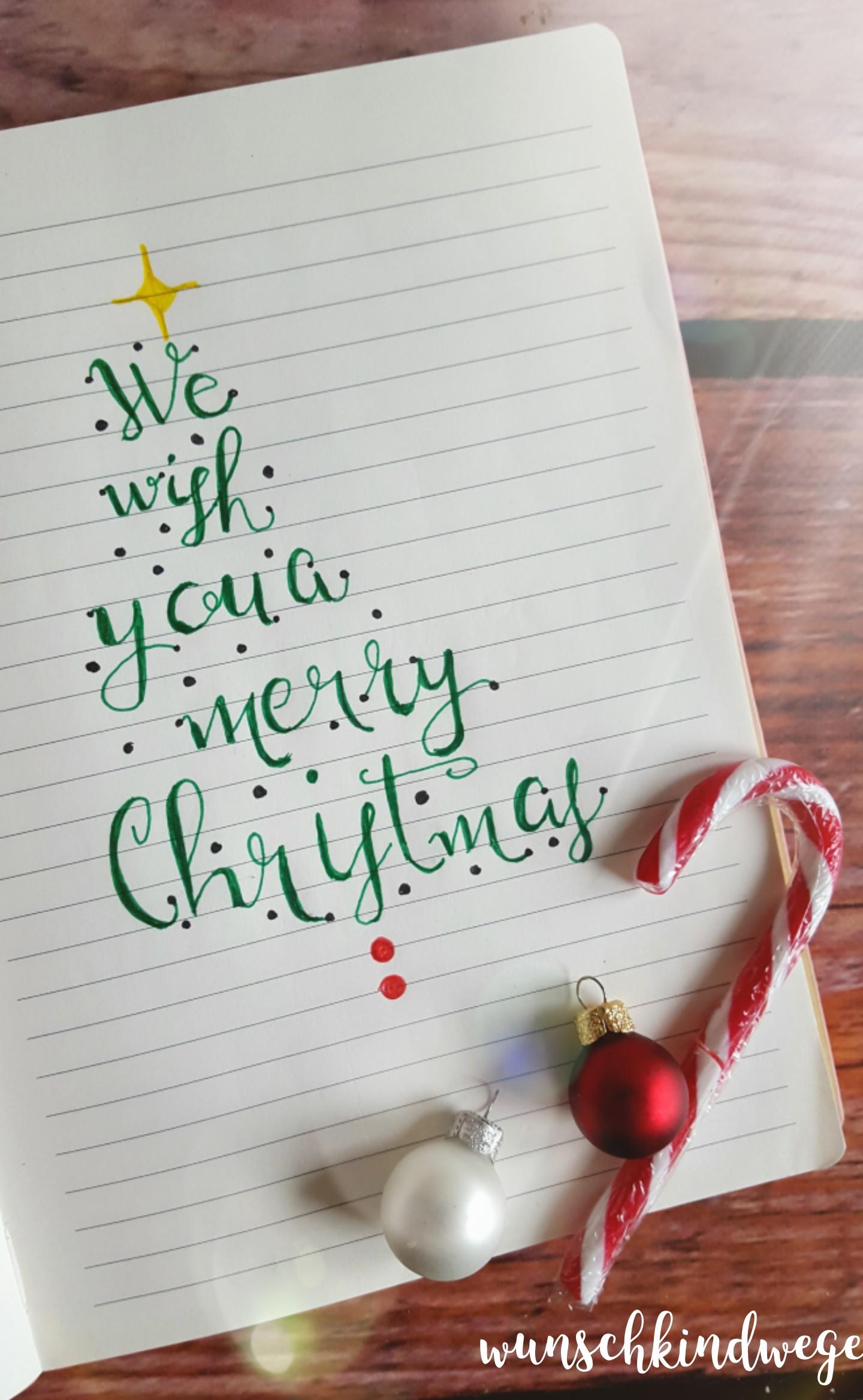 Weihnachtswochenende Lettering