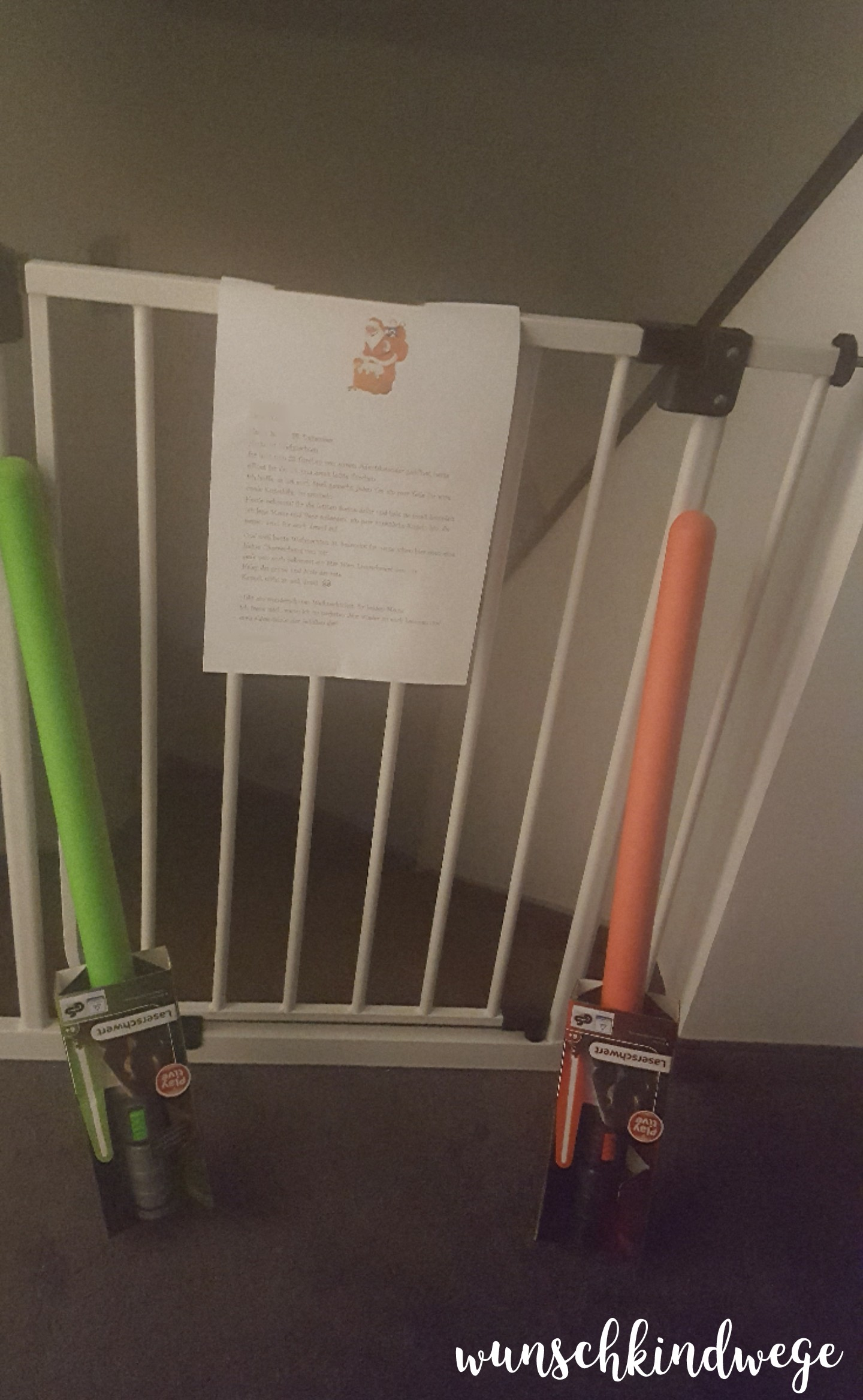 Weihnachtswochenende Laserschwert