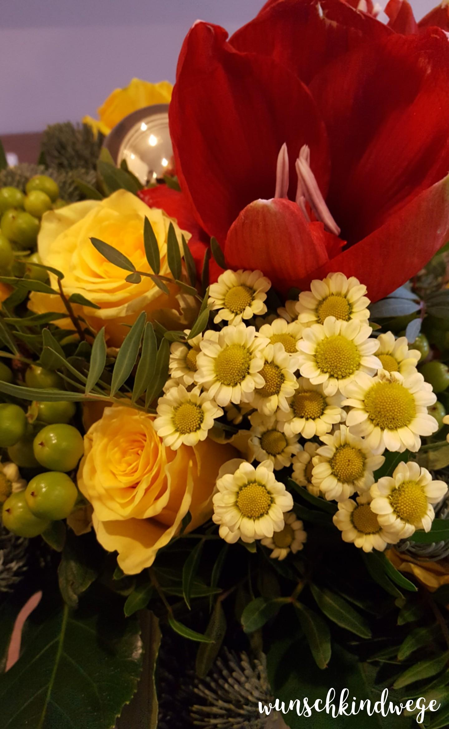 Weihnachtswochenende Blumenstrauss