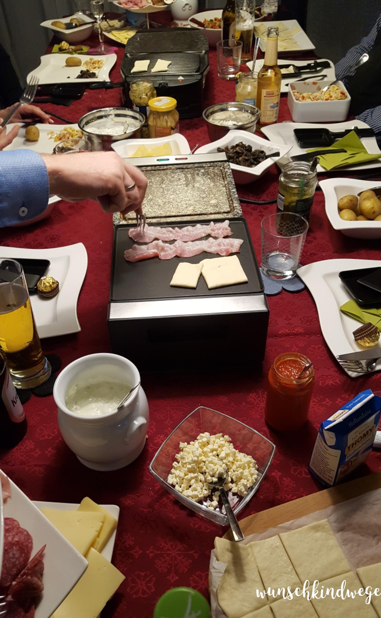 Weihnachtswochenende Raclette
