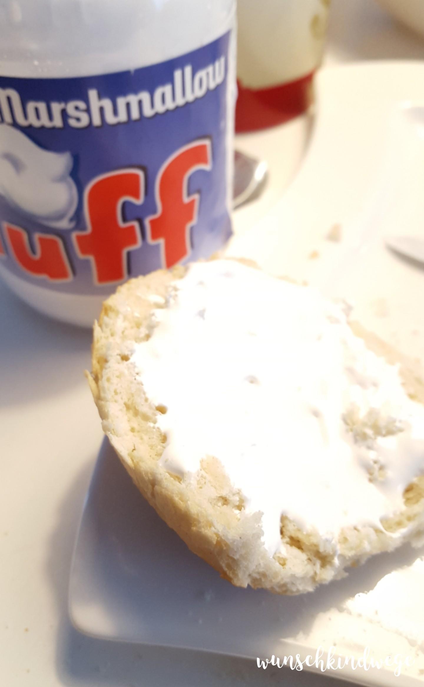 Karnevalswochenende Frühstück Marshmallow Fluff