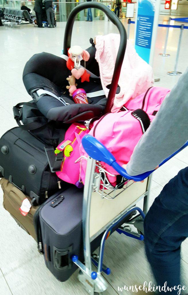 Reisen mit Kindern Gepäck