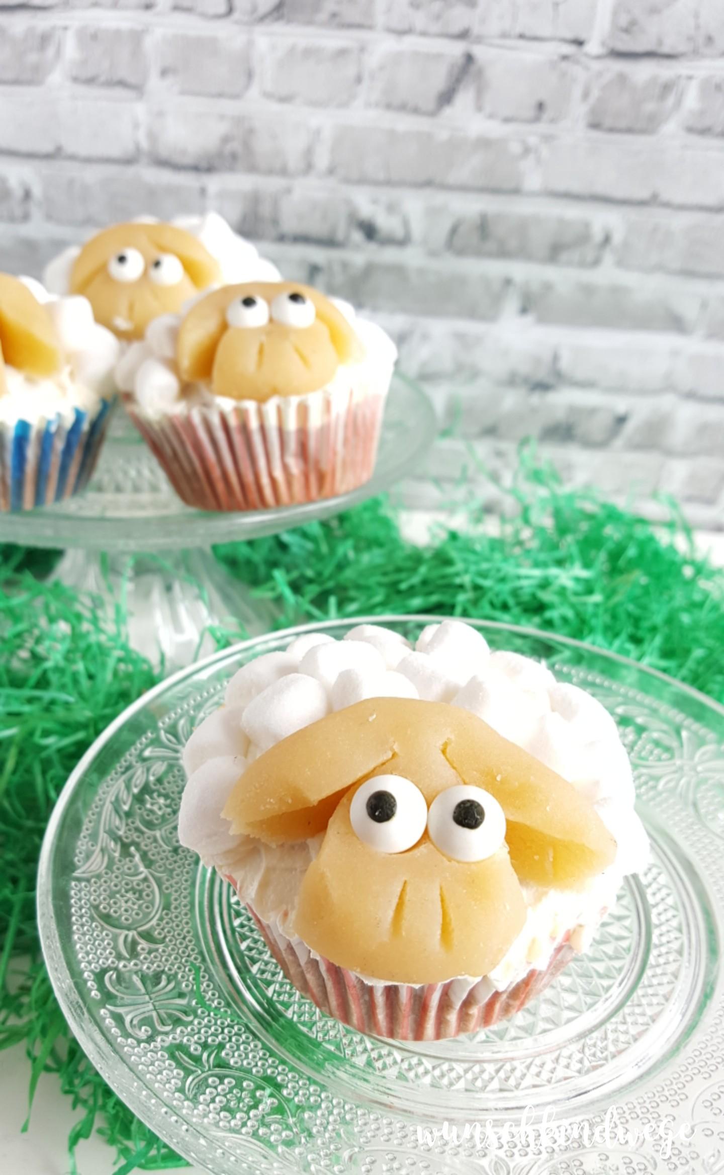 Osterwochenende in Bildern: Schäfchen Cupcakes