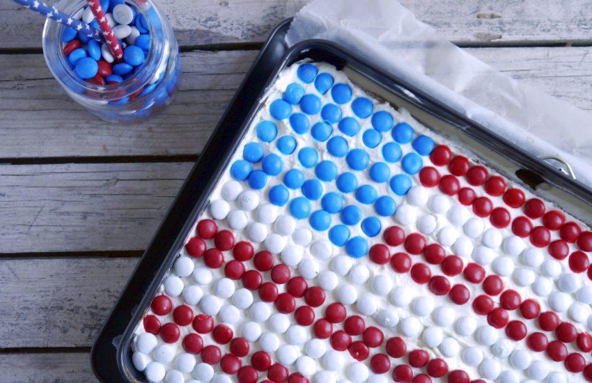 USA Torte mit M&Ms