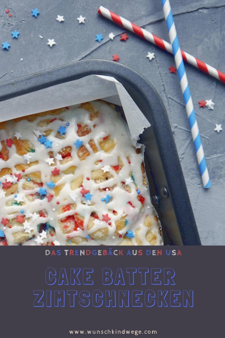 Cake Batter Zimtschnecken