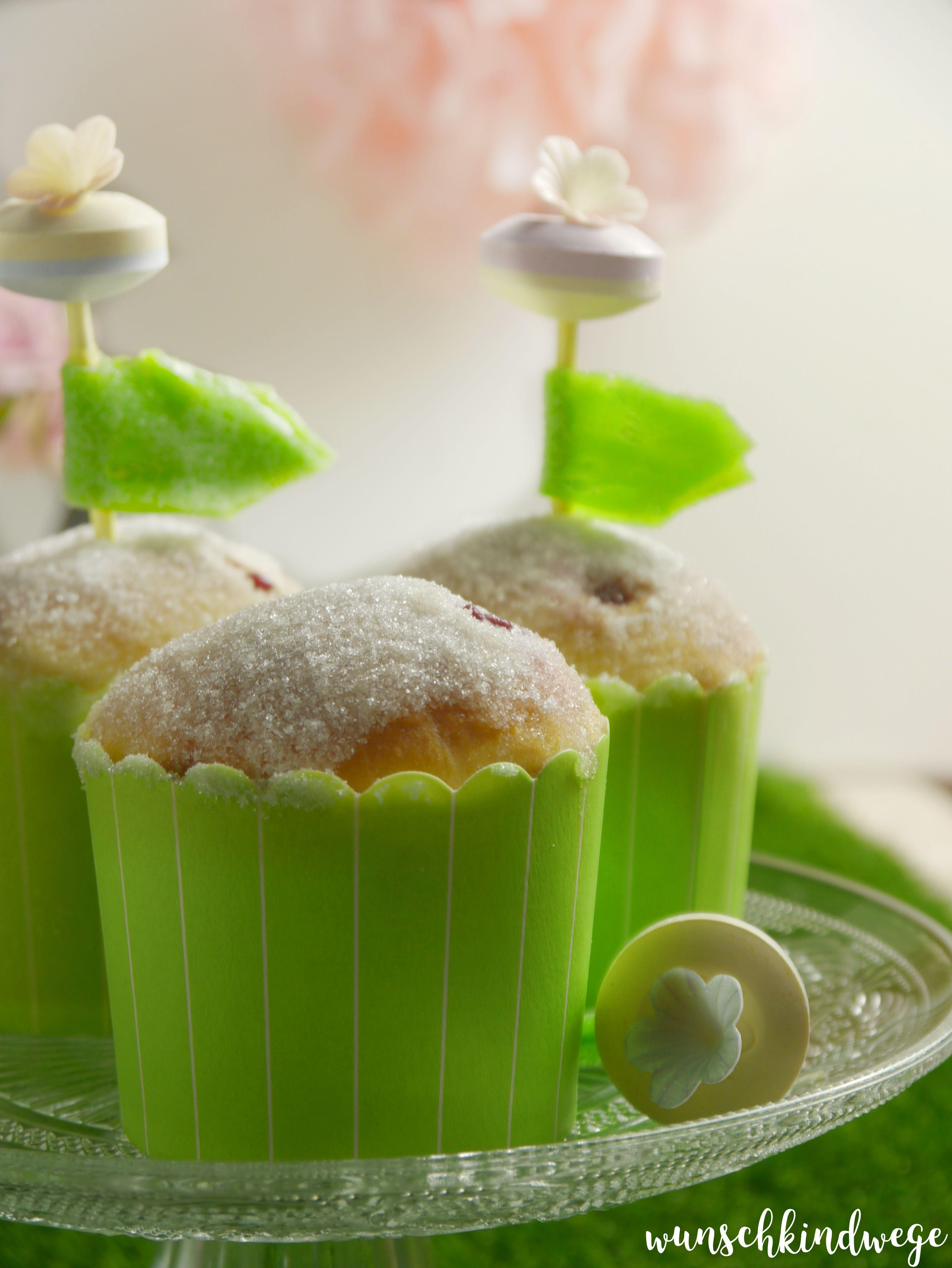 Berliner Muffins mit Blümchen