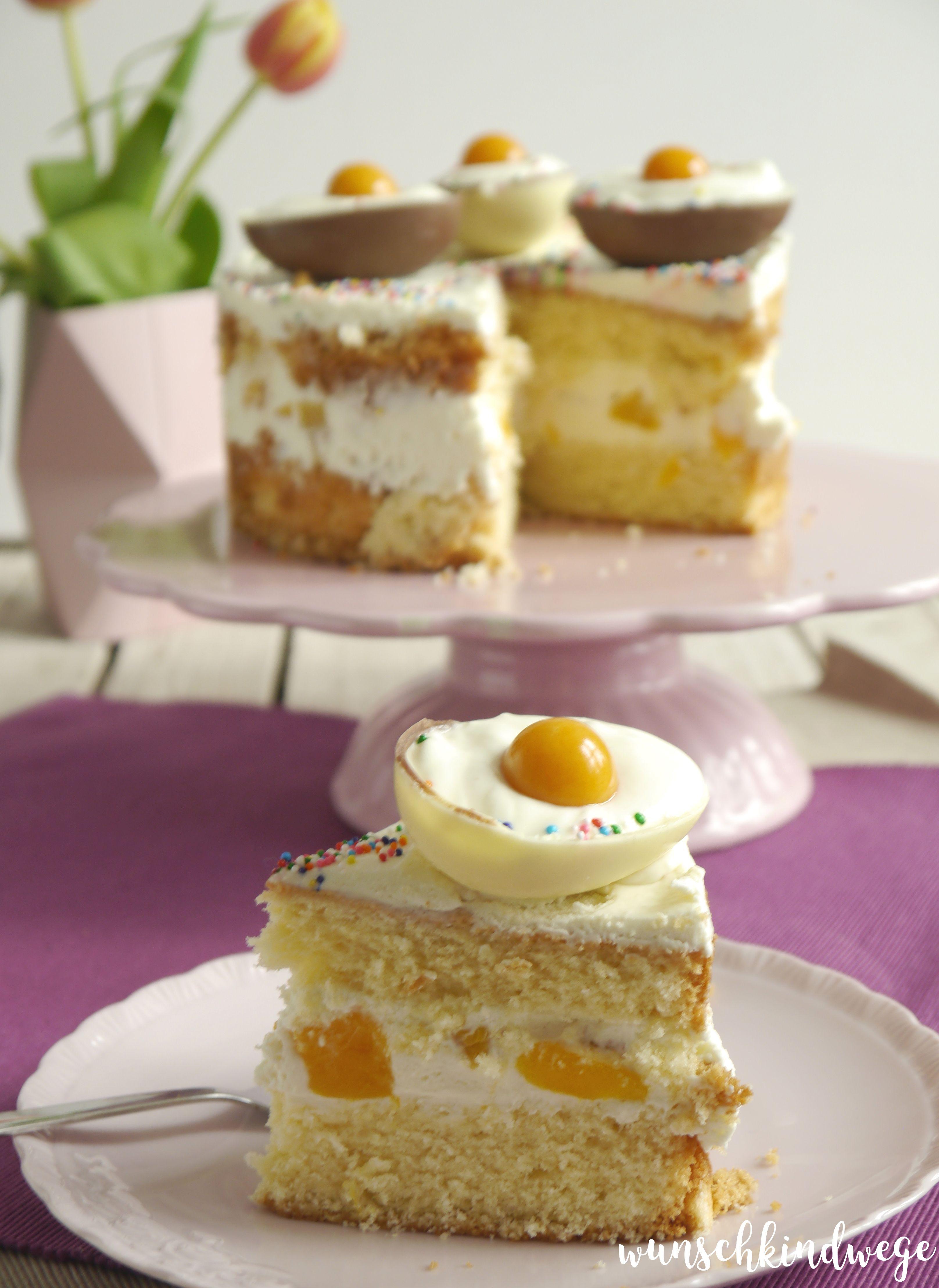 Osterei-Torte Aprikosen
