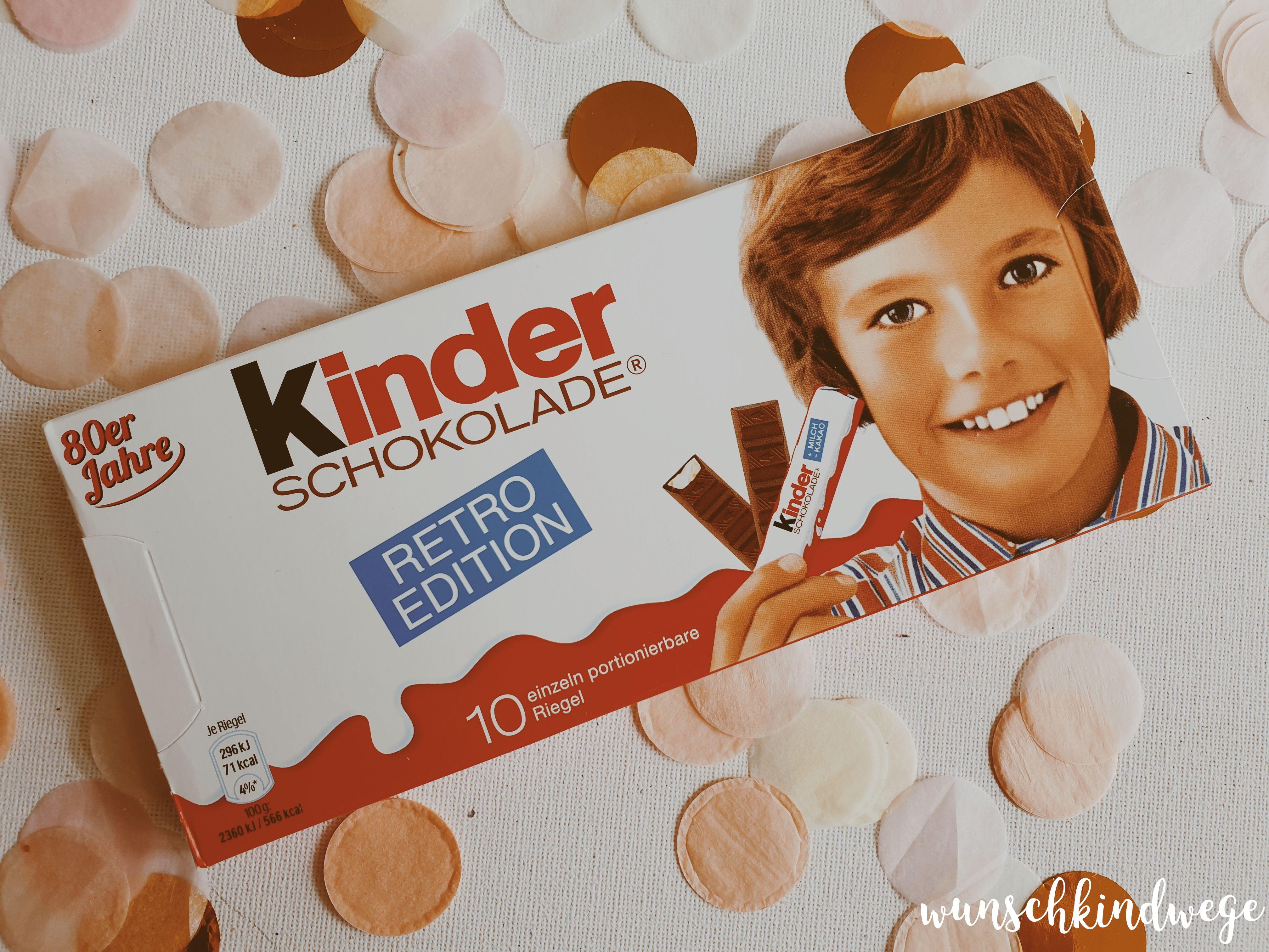 kinder Schokolade 80er Jahre