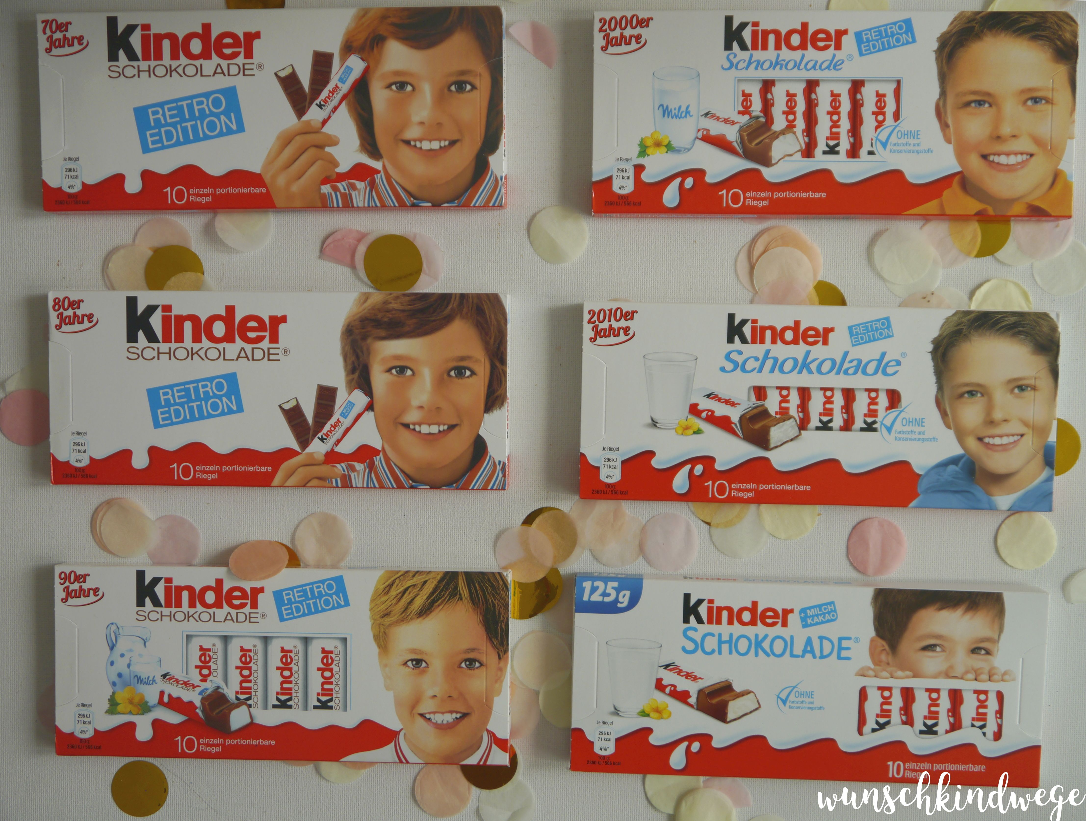 kinder Schokolade Retro Edition