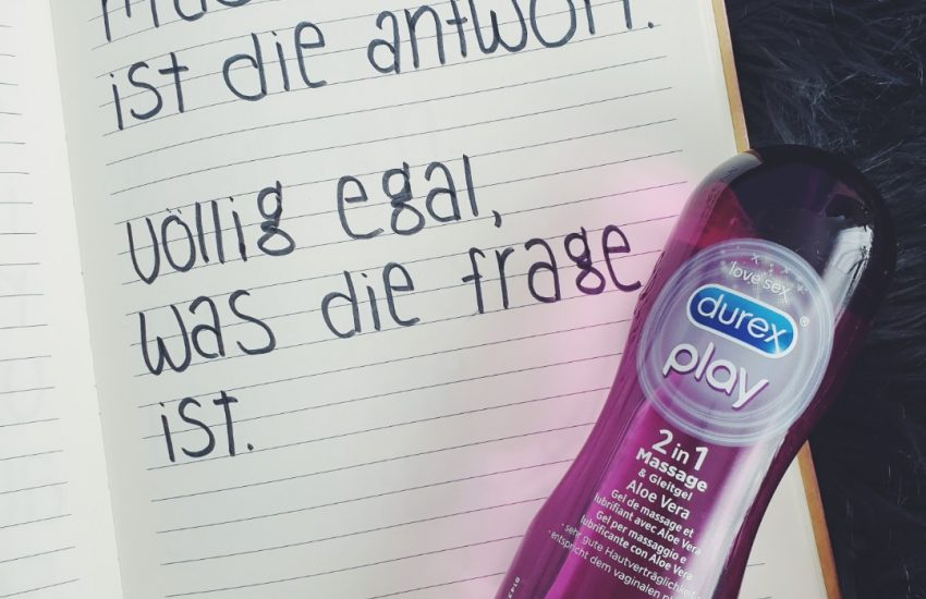 2 in 1 Gleitgel Massage Durex