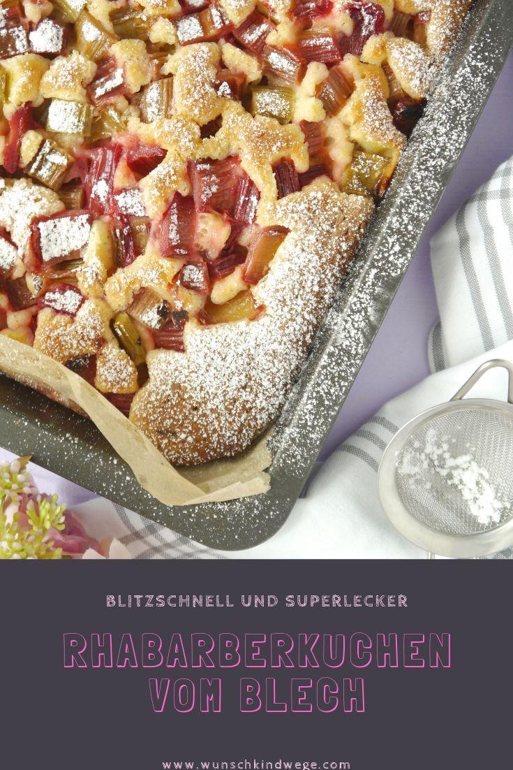 Rhabarberkuchen vom Blech Pinterest