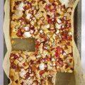 Blechkuchen Rhabarber