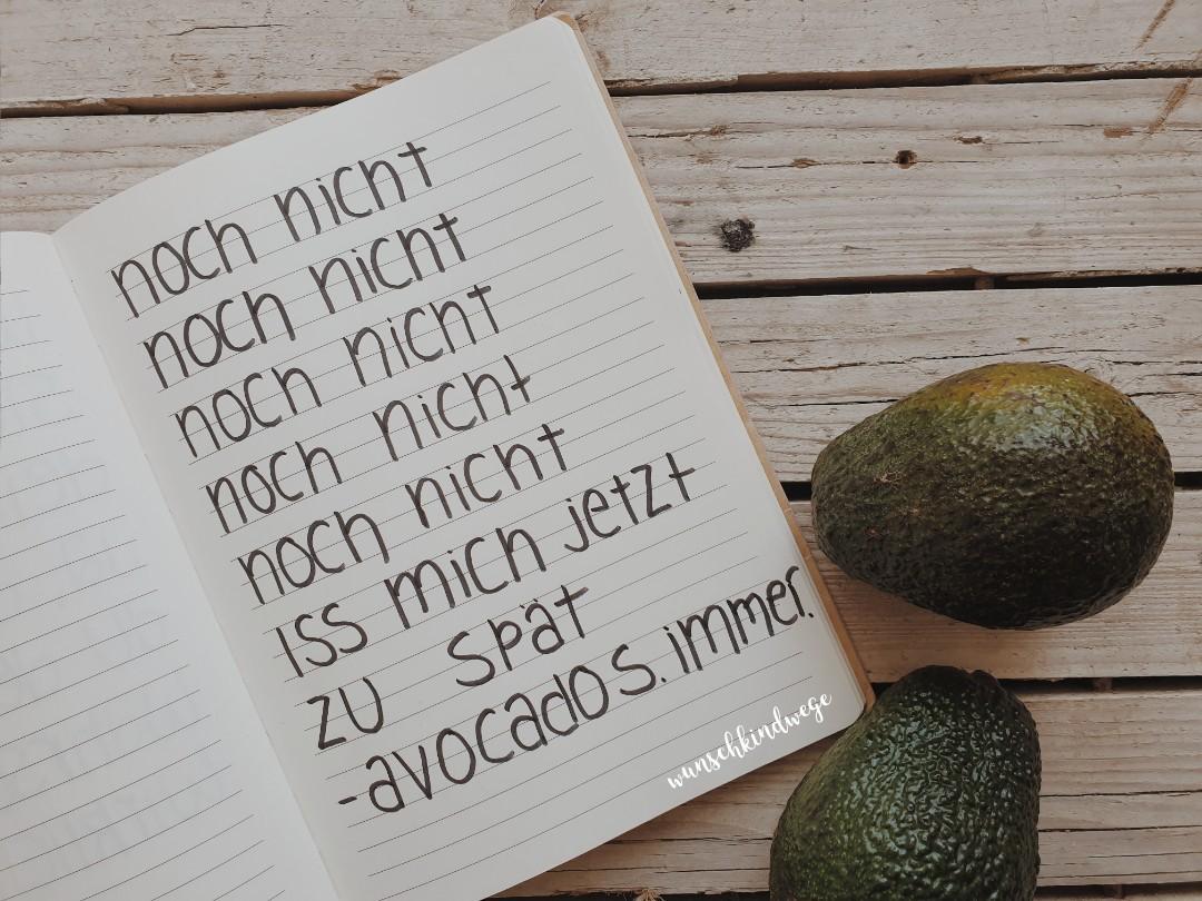 Avocadocreme Spruch Avocado