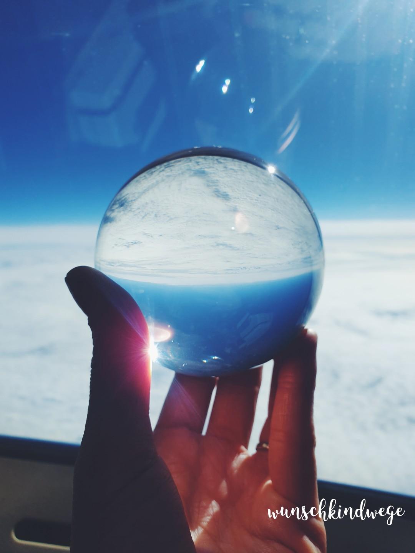 Lensball Flugzeug