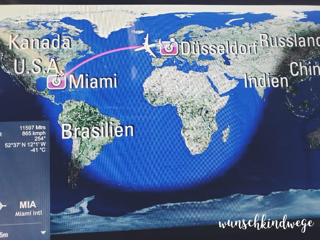 Airshow im Flugzeug nach Florida