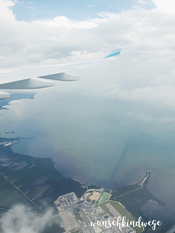Anflug Küste Florida