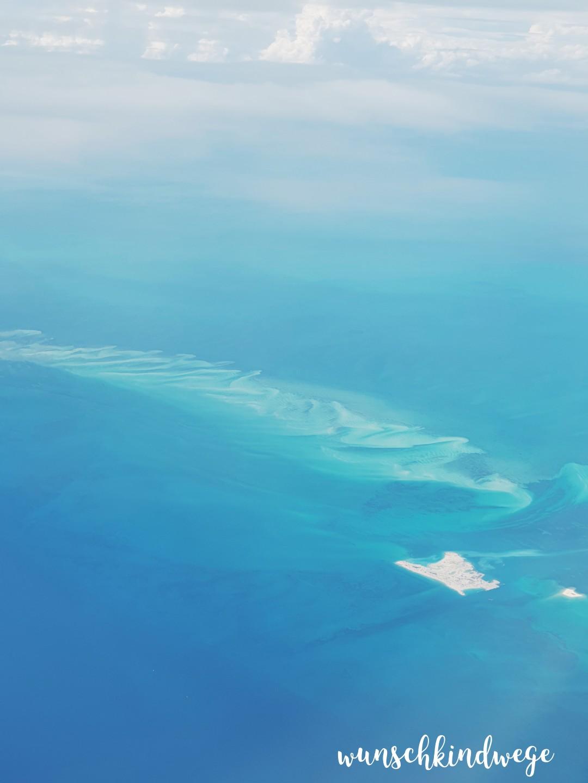 Bahamas aus dem Flugzeug