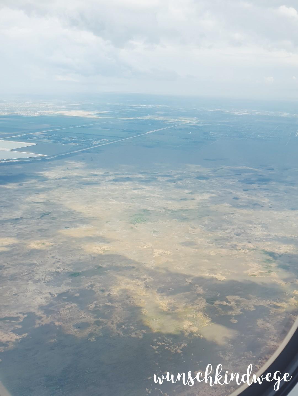 Everglades aus dem Flugzeug