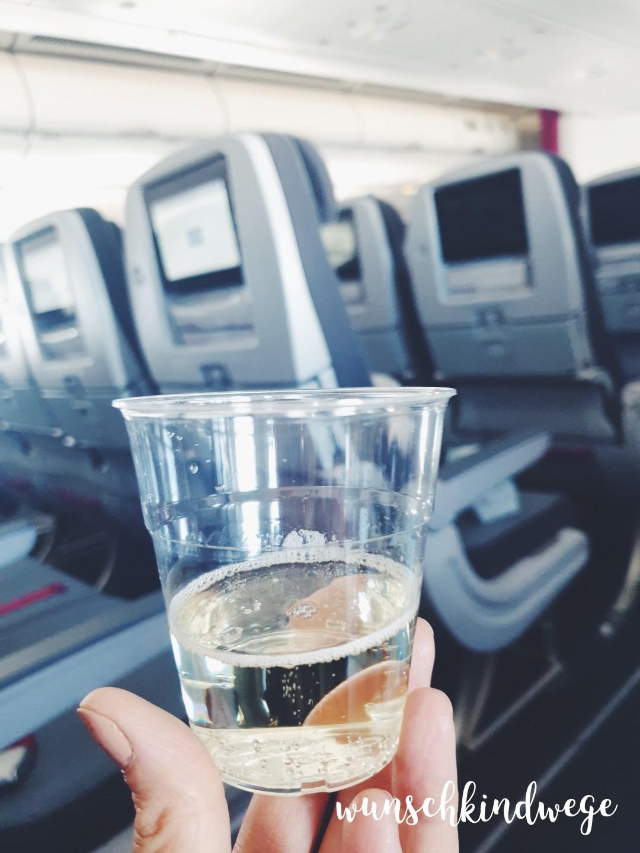 Prosecco im Flugzeug